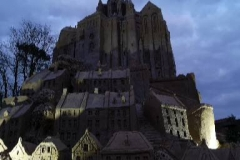 Mont Saint Michael by night