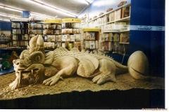Dracosaurus Etalage kinderboekhandel 1993